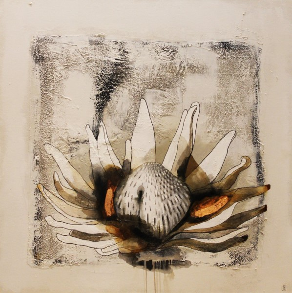 painting of a protea