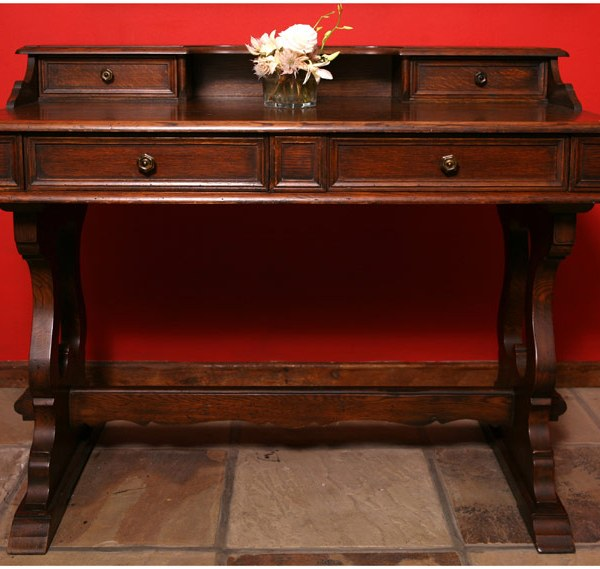 Photo of an antique wooden table