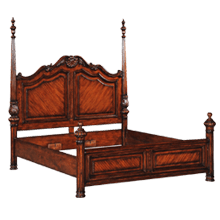 Panel Mahogany Bed