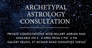 Archetypal Astrology Consultation with Hillary Adrian Han April 2019 at Gallery Helios Singapore