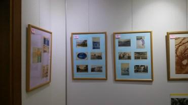 旅館や海の家で販売された稲毛の絵葉書。稲毛の海や松林の写真が使われています。