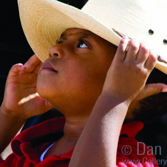 Little boy at rodeo crop
