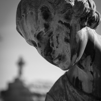 Stone Angel and Cross Metarie Cemetery New Orleans Louisiana 2017