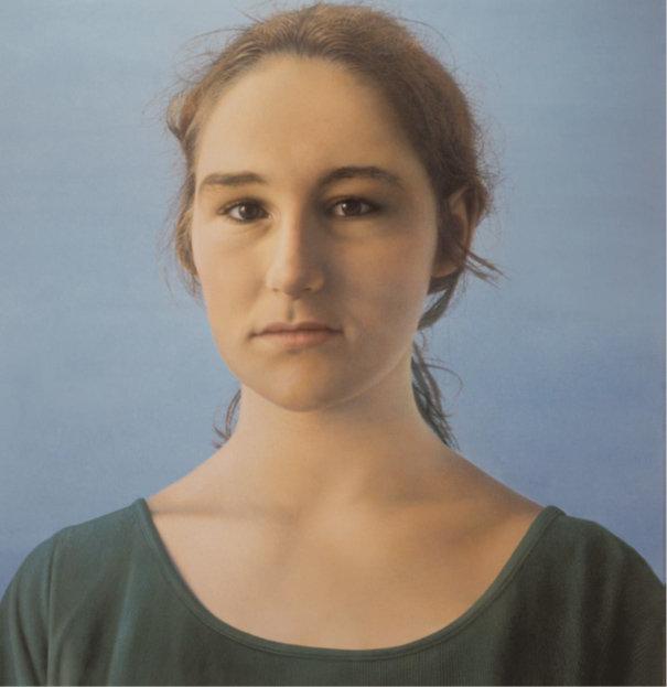 Franz Gertsch, Silvia I, 1998, Eitempera auf ungrundierter Baumwolle, 290 x 280 cm