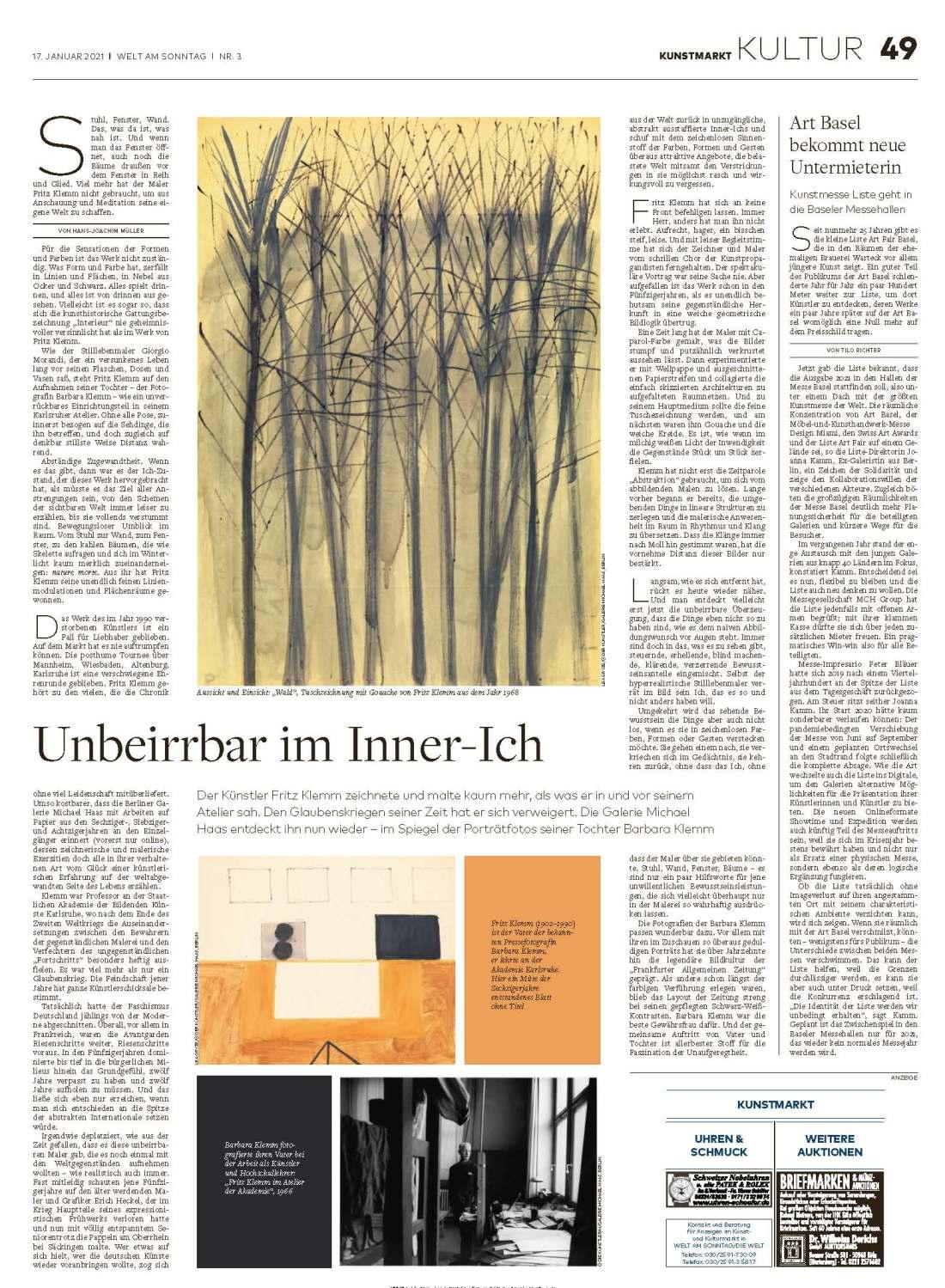 Welt am Sonntag, January 2021