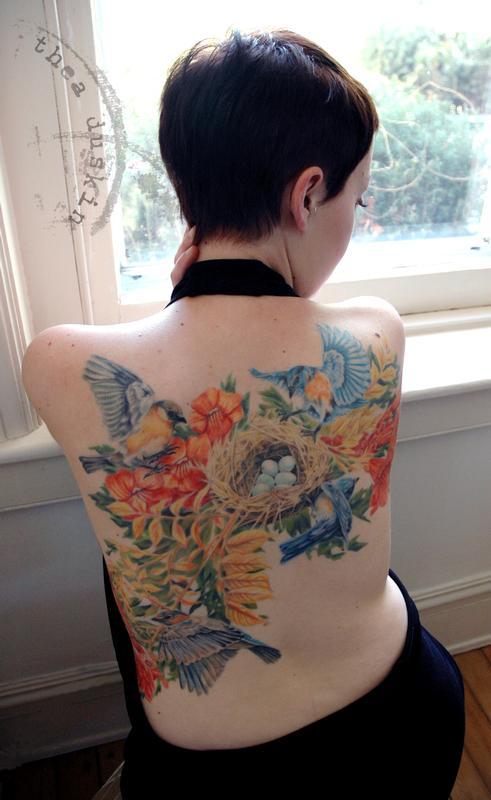 Keyword Bluebirds And Nest By Thea Duskin Tattoos