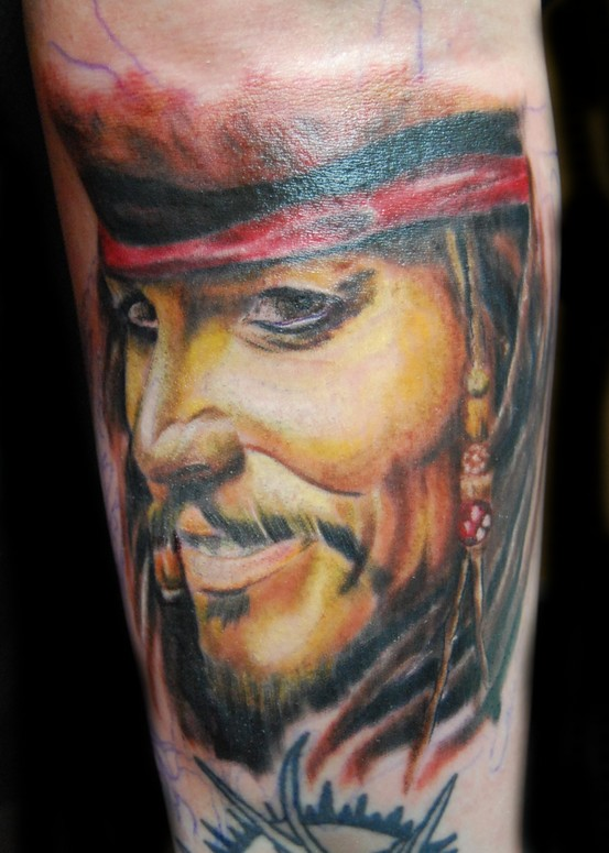 Jack Sparrow Tattoo Arm