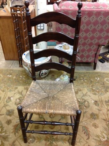 ladder back cane seat dining chairs chair mats for hard floors late 1700's early 1800's bottom unknown - 162893
