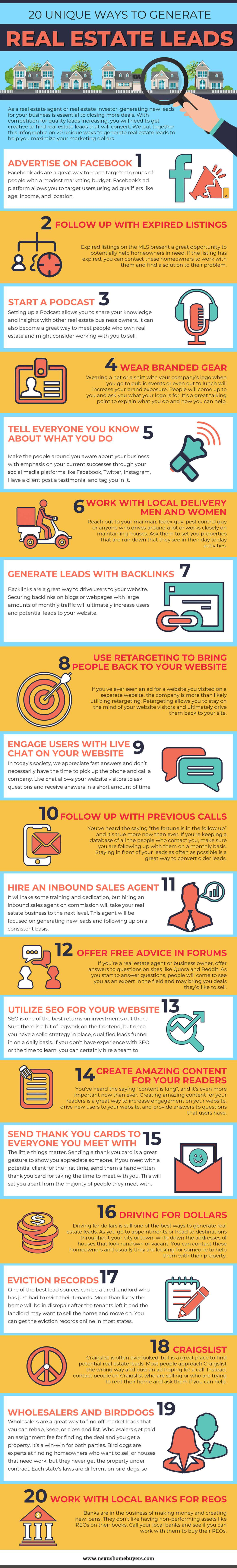 20 Unique Ways to Generate Seller Leads
