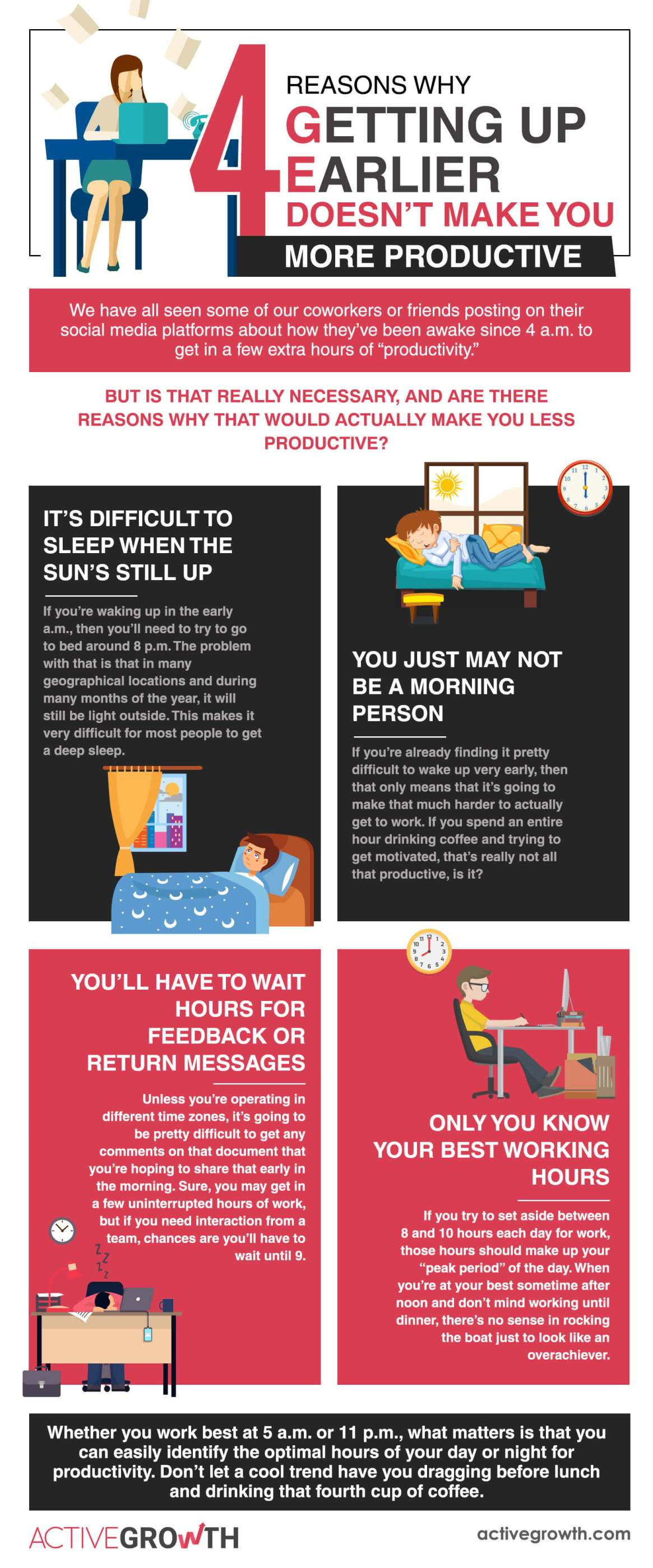 4 Reasons Why Getting Up Earlier Doesn't Make You More Productive
