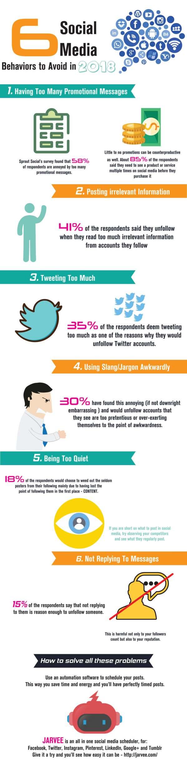 6 Social Media Behaviors To Avoid In 2018