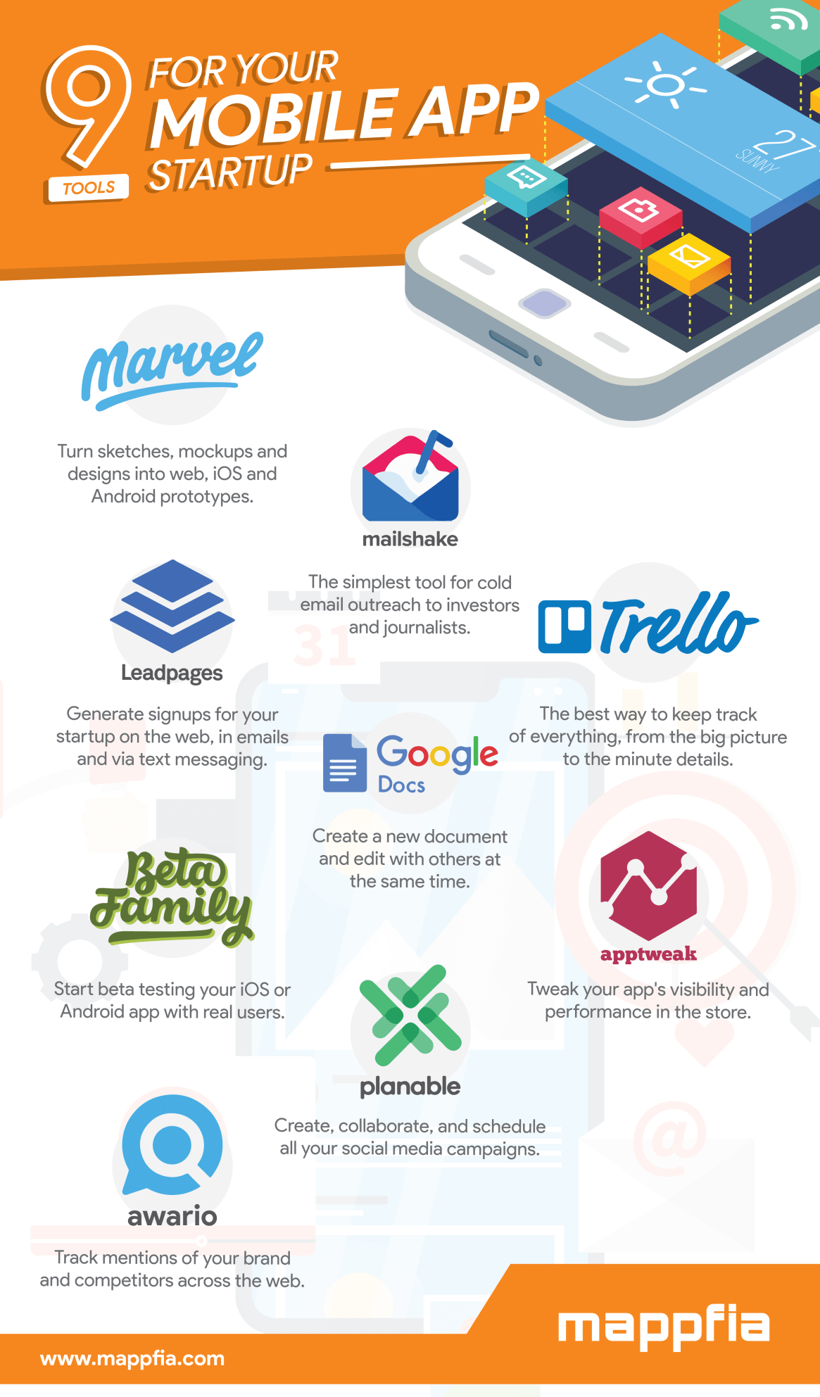 9 Tools for Your Mobile App Startup