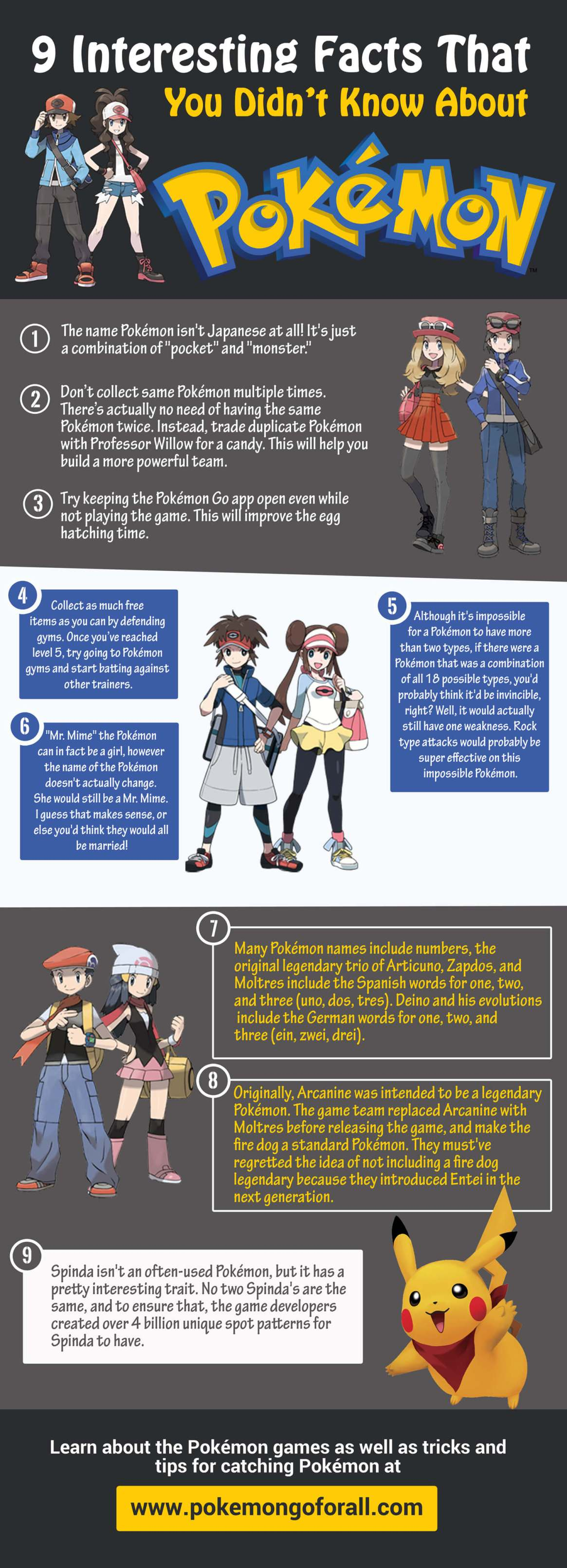 9 Interesting Facts You Didn't Know About Pokémon Go
