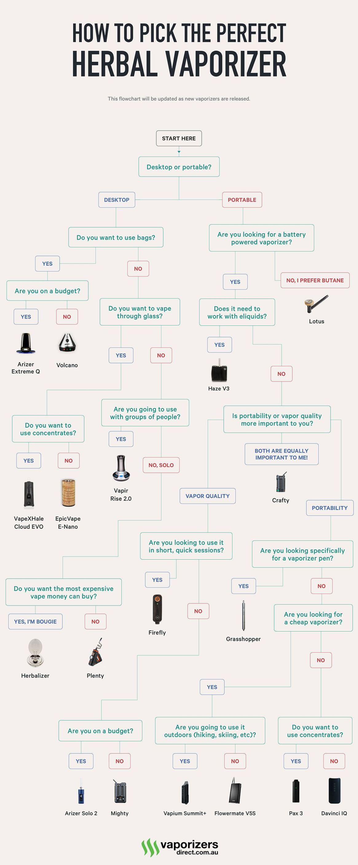 Vaporizer Buying Guide (Flowchart)