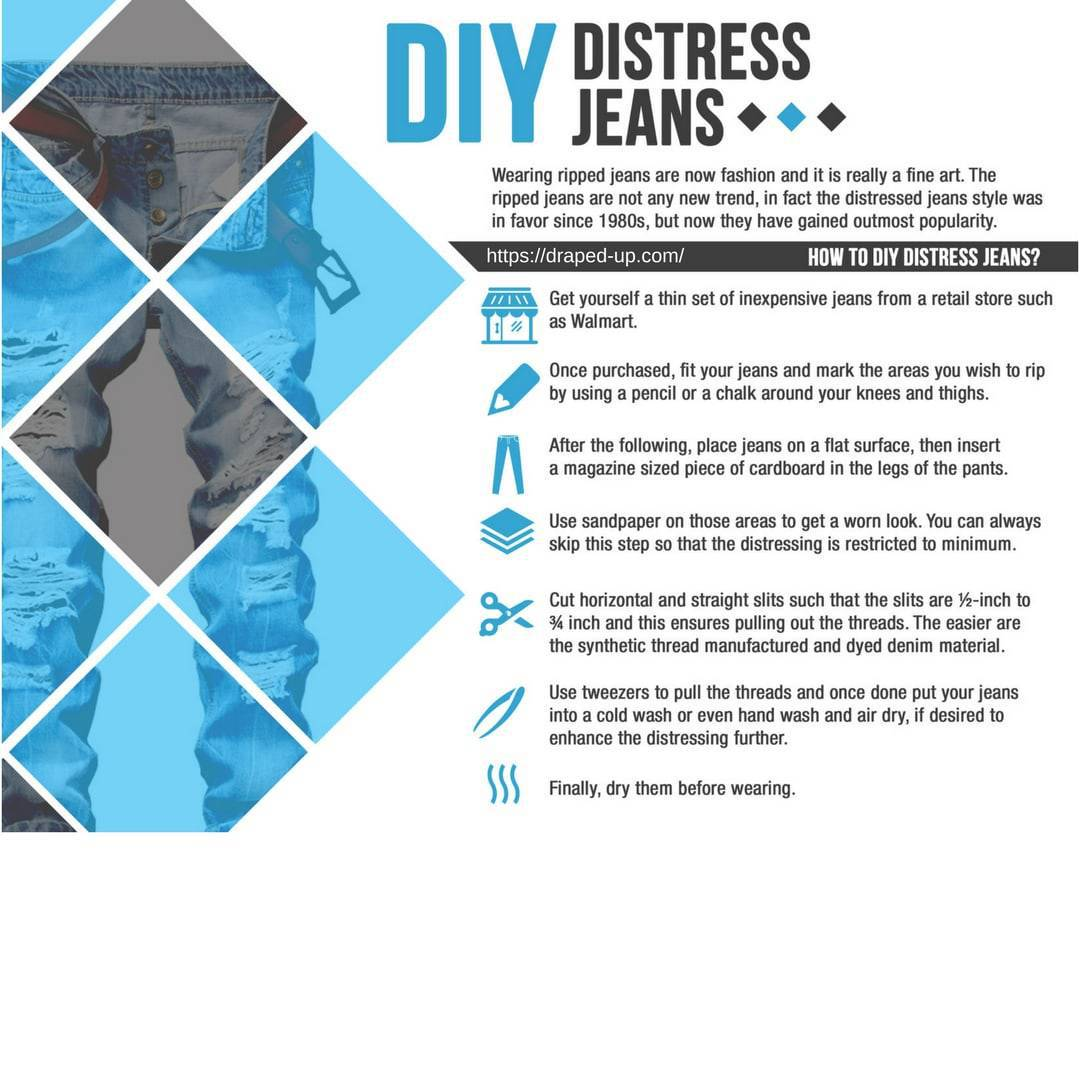DIY: Distress your own Jeans
