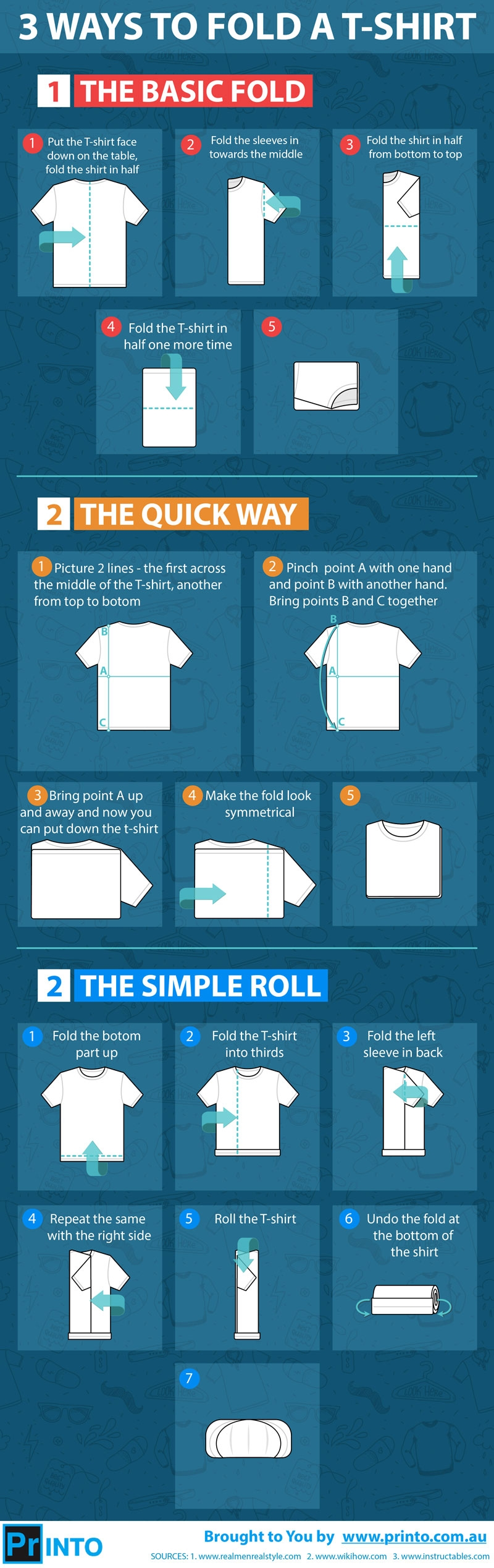 3 Ways to Fold the T-shirts
