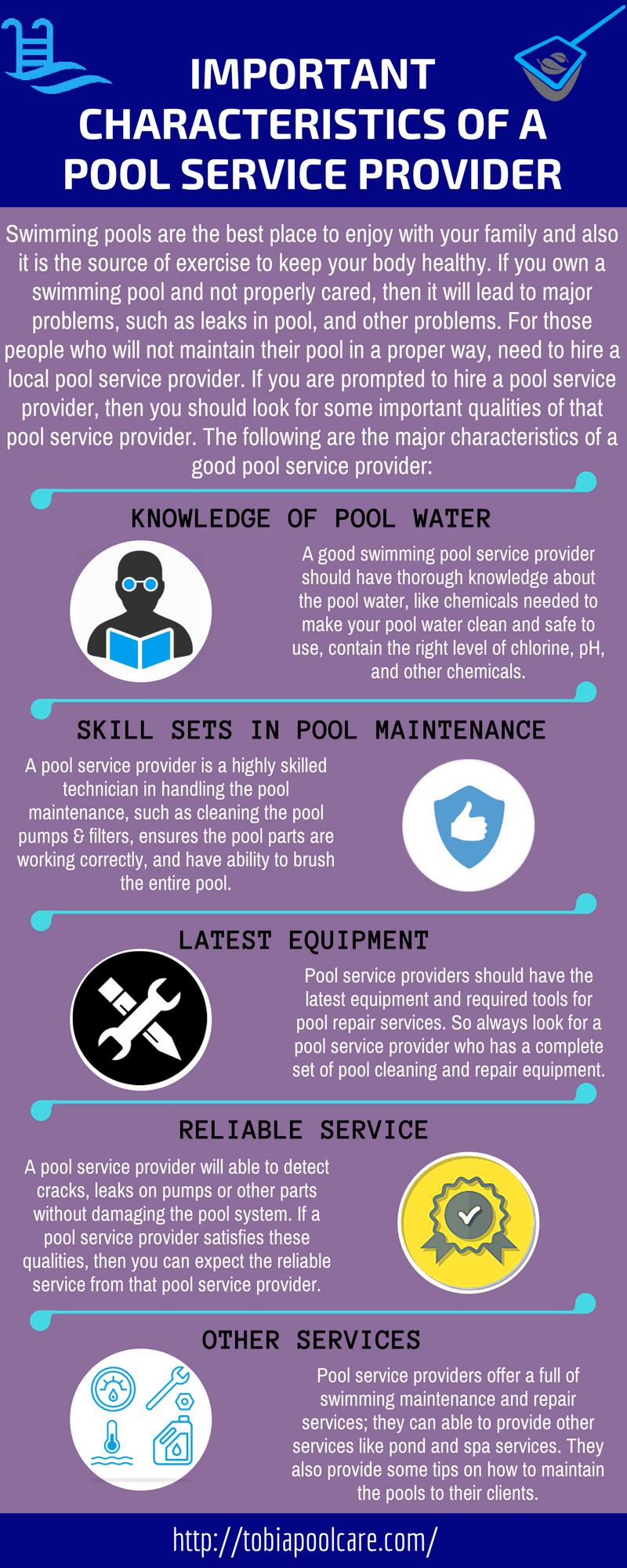 Important Characteristics of a Pool Service Provider
