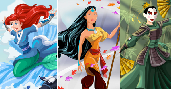Disney princesses as avatar the last airbender the legend of disney princesses as avatar the last airbender the legend of korra characters voltagebd Image collections