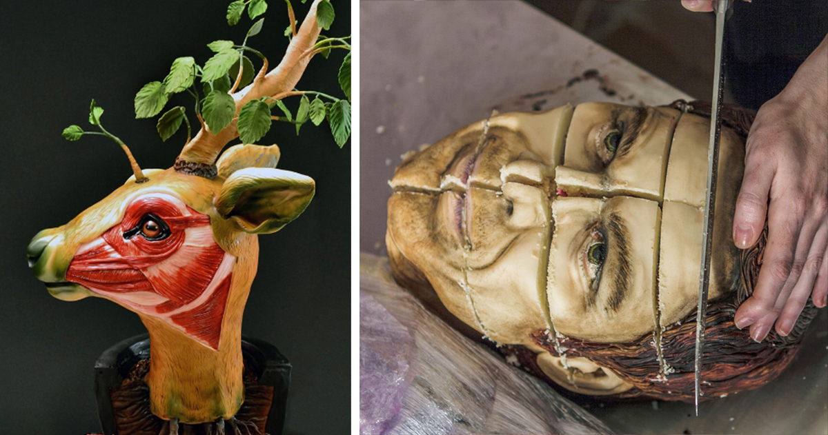 creepy realistic cake art by annabel de vetten that you can actually eat