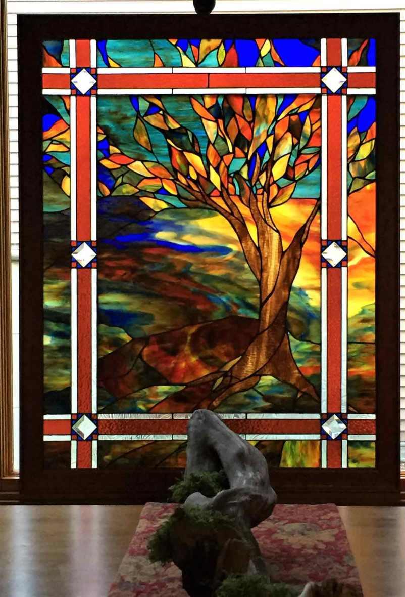 Custom art glass tree by Gallery's Choice