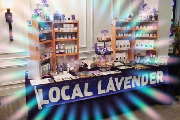 The Gallery's Choice pop-up shop full of hand-made art and locally grown lavender gift products.