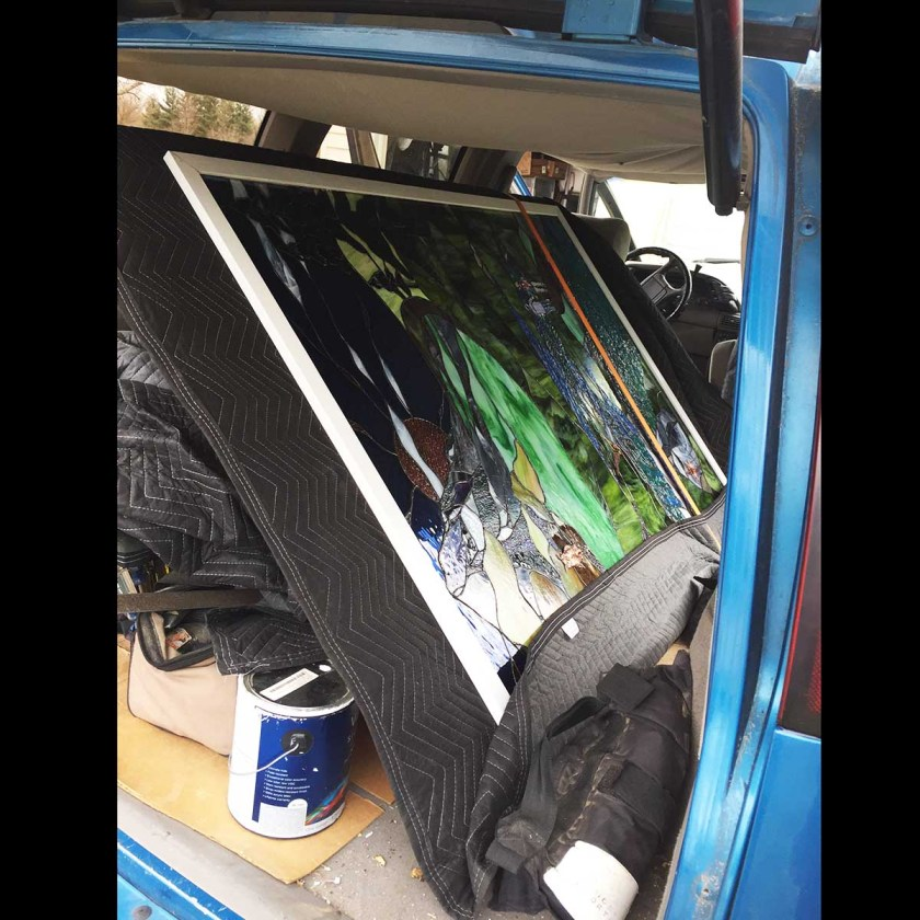 stained glass transport rig