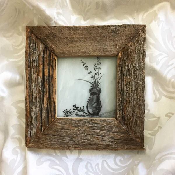 Rustic Lavender Vase Wall Art