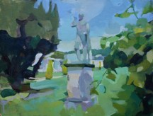 Sculpture in front of the Orangery, Chatsworth 35 x 45 cm