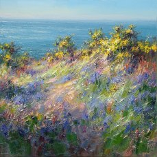 L481A Bluebells, Gorse and Blue Sky, Cornwall 24x24