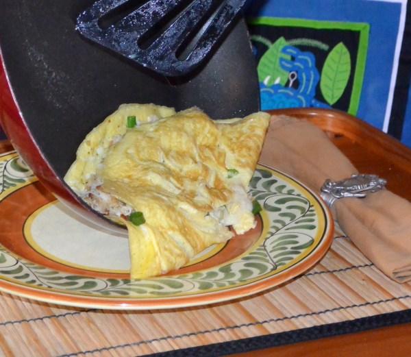 sliding onto the plate
