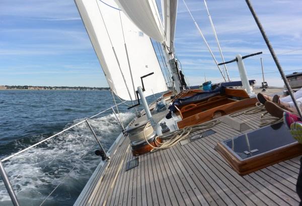 12 meter Columbia on deck