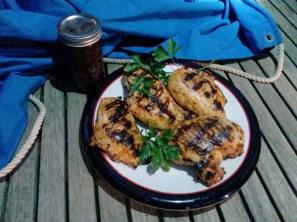BBQ sauce on chicken