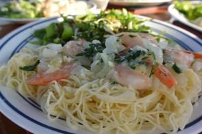 shrimp scampi served 2