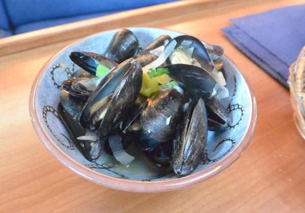 Belgium mussels in saloon