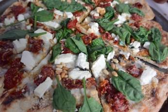 pizza slice close up