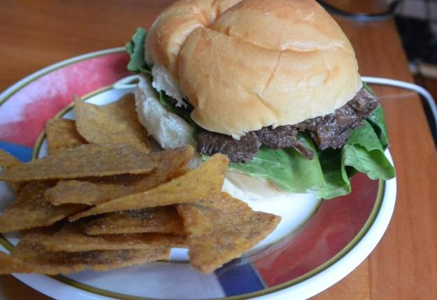 roast beef sandwich on plate