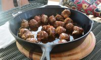Venison Meatballs with Bourbon Sauce