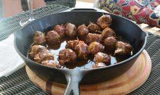 Venison Meatballs with Bourbon Sauce