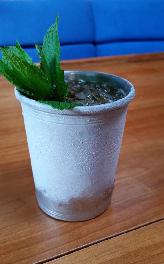 perfectly iced up mint julep