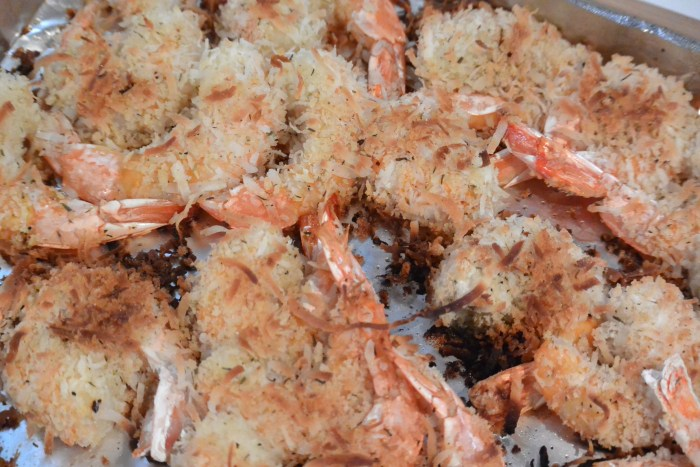coconut shrimp out of the oven