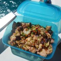 Cooking in the Tuamotus, Part 2: Octopus salad and Fish carpaccio