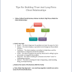 Tips For Building Trust And Long-Term Client Relationships