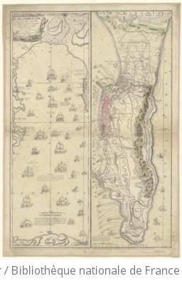 Plan de Gibraltar attaqué par terre et par mer par l