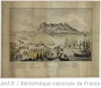 Vue de la montagne et de la ville de Gibraltar