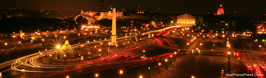 Place de la Concorde at night