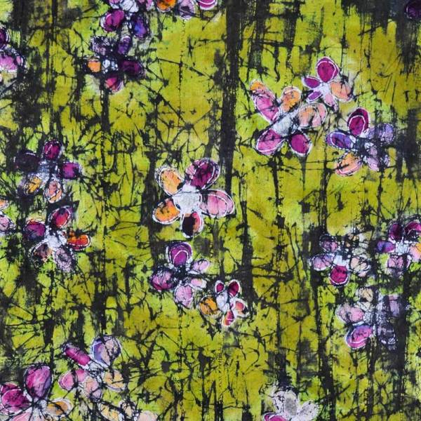 Image of Soy Wax Resist on Proceon MX dyed Fabric by Melanie Testa - from Susan Purney Mark Soy Wax Inspirations Workshop