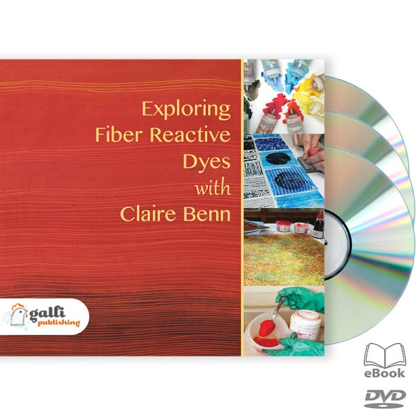 Image of 3 DVD Set from Exploring Fiber Reactive Dyes with Claire Benn