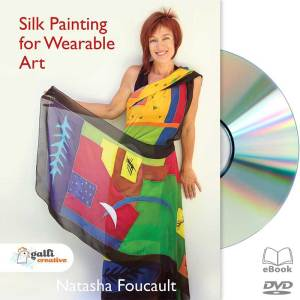 silk painting for wearable art with natasha foucault dvd cover art image