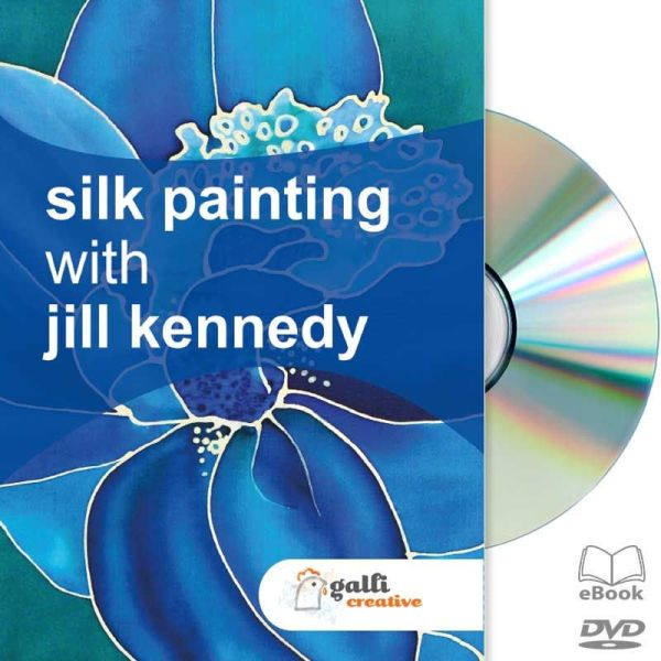silk painting with jill kennedy dvd cover illustration