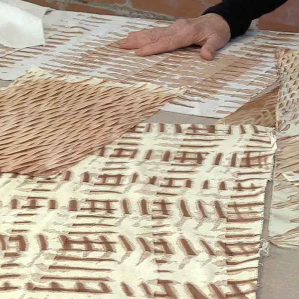 08.kakishibu Persimmon Tannin Shibori Paper Fabric Analisa Hedstrom
